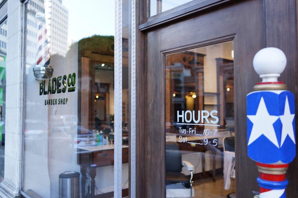 Blades Co barber shop in San Francisco