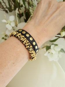 Fashion Jewelry Leather Beaded Stacking Bracelet Set