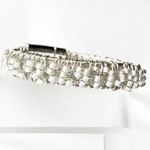 Champagne Stack Bracelet Side Close Up
