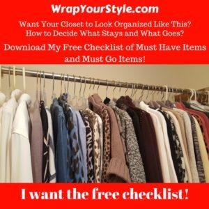 Free Printable Closet Checklist