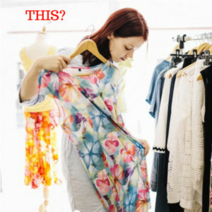 Woman Building Awesome Wardrobe with Floral Dress
