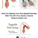 DIY Free Jewelry Tutorial for changeable bead earrings.