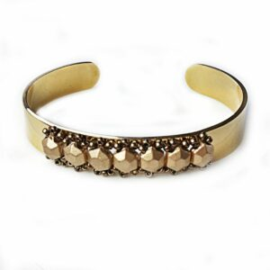 Adjustable Gold Cuff Bangle Bracelet. Stretches to fit most wrists.