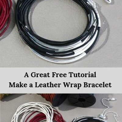 Leather Wrap Bracelet from Goody Beads