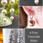 DIY pearl earrings free tutorial courtesy of Goody Beads.