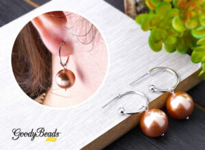 DIY Pearl Dangle Hoop Earrings.