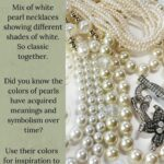 Different white colors of pearls.