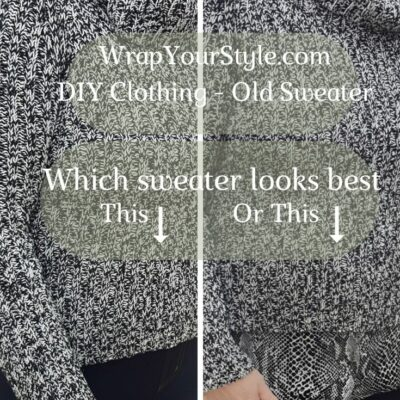 DIY Clothing Easy | How To Make Old Sweaters Attractive