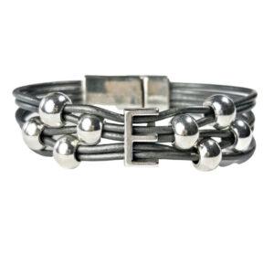 Grey Initial Bracelet E