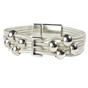 White Bracelet Initial E
