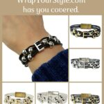 Graphic of initial bracelets in six different colors