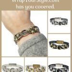 Graphic of Initial G Bracelet in six different colors