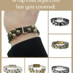 Graphic of Initial L Bracelet in six different colors
