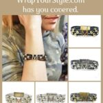 Graphic of Initial M Bracelet in six different colors