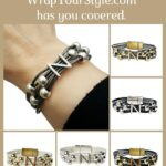 Graphic Initial N Bracelet in six different colors