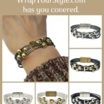 Graphic of Initial P Bracelet in six different colors