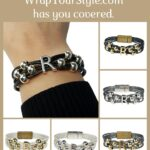 Graphic of Initial R Bracelet in six different colors