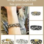 Graphic of Initial S Bracelet in six different colors