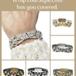 Graphic of Initial W Bracelet in six different colors