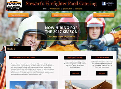 Stewart's Firefighter Food Catering
