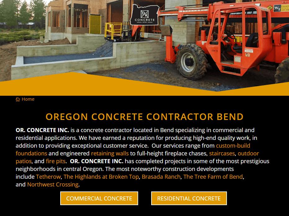 OR. Concrete Inc.