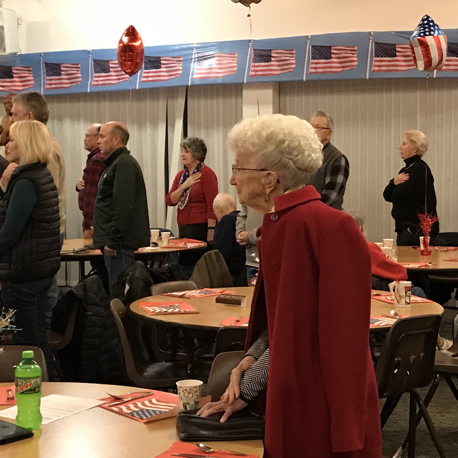 Annual Veterans Dinner every November