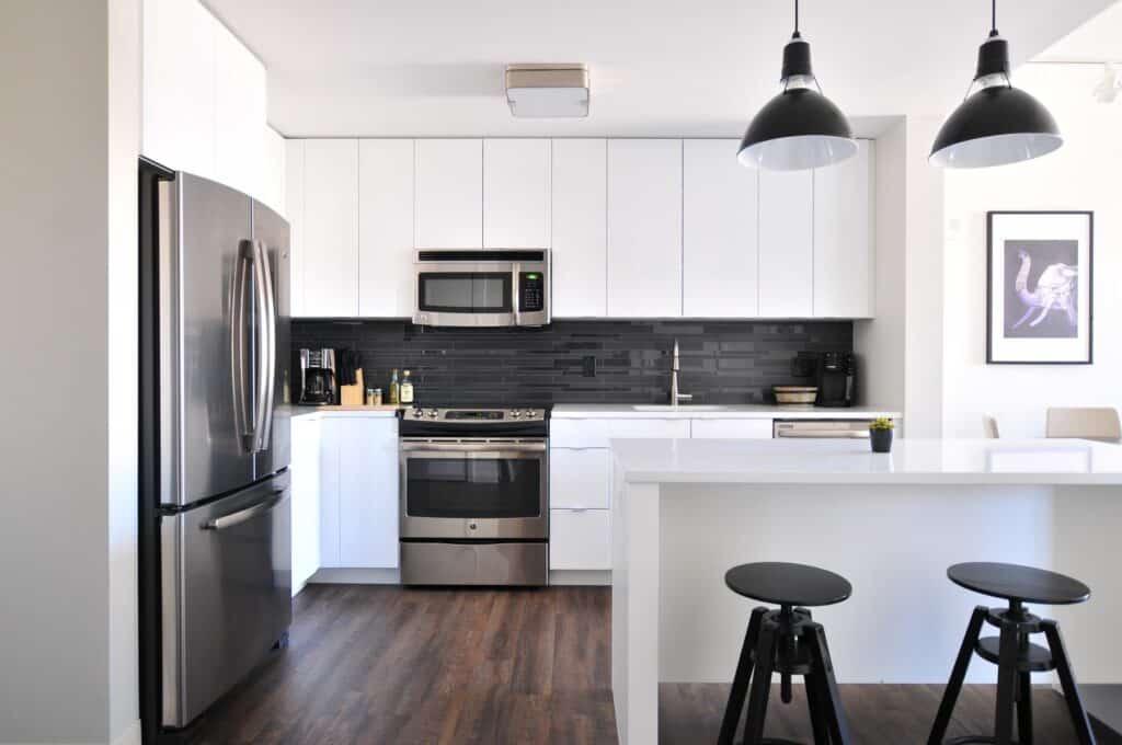 an L-shaped kitchen layout