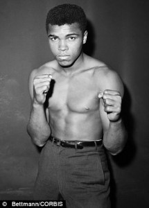 Young Cassius Clay, later to be renamed Muhammad Ali.