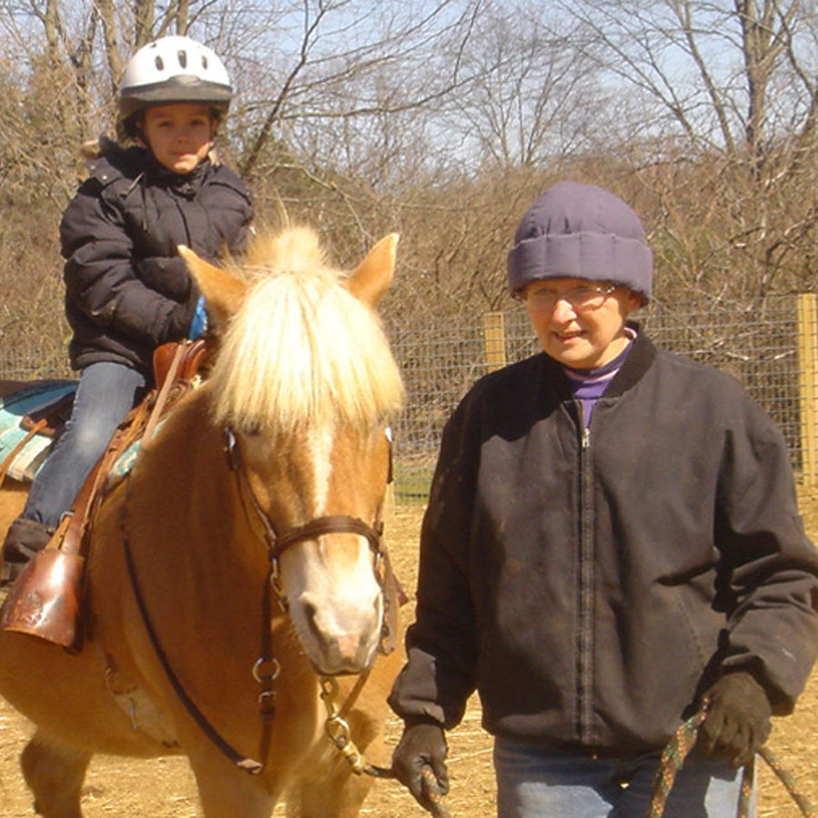 Riding in the east pen