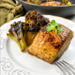 Chili Lime Mahi–Mahi with Blackened Broccoli
