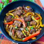 One–Skillet Cheesy Sausage & Peppers