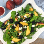 Peach Blackberry Salad with Blackberry–Basil Vinaigrette