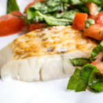 Parmesan Haddock with Fresh Tomatoes and Basil