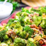 Roasted Broccoli and Raisin Salad with a Yogurt Dressing
