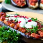 Stuffed Eggplants (Aubergine) with Pomegranate