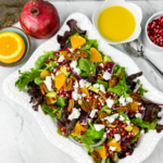 Orange-Pomegranate Salad with Orange Champagne Vinaigrette
