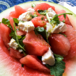 Watermelon Feta Salad with Lime-Cilantro Vinaigrette