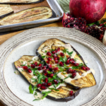 Roasted Eggplant with Tahini Dressing