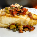 White Fish with Sun-Dried Tomato Tapenade
