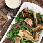 Roasted Fennel & Fig Salad with Lemon-Tahini Dressing