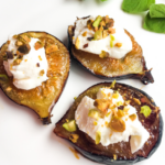 Roasted Figs with Homemade Labneh & Pistachios