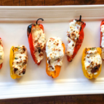 3 Cheese and Bacon Stuffed Mini Sweet Peppers