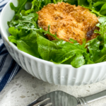 Mixed Green Salad with Warm Goat Cheese Croutons