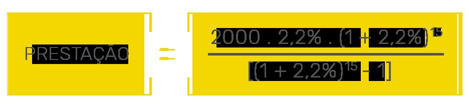 Exemplo de cálculo de retorno do investimento.