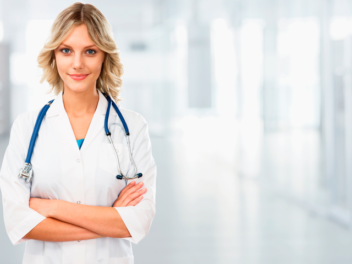 female doctor in medical sales training example