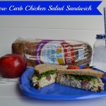 low carb chicken salad sandwich
