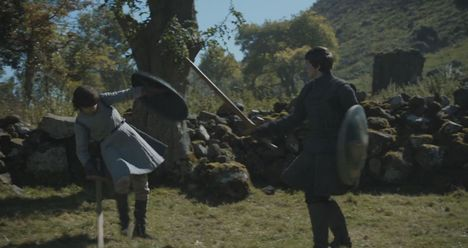 Robin Sparring Games of Throne