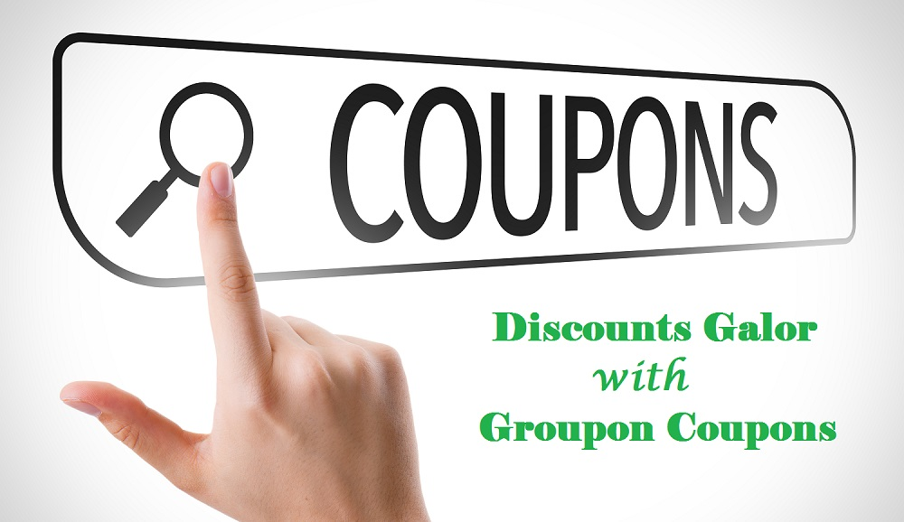 Coupons written in search bar on virtual screen