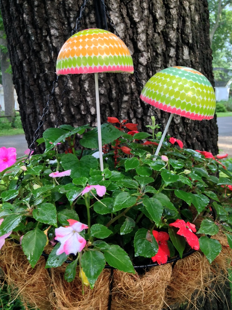 Craft project for flower pots