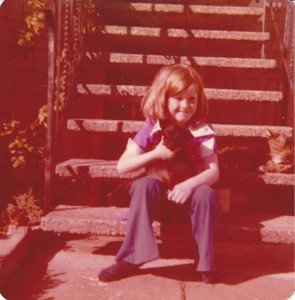 Jennie and Poochiana on Elsie Street 1977